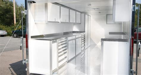 Race Trailer Cabinets by Lightweight Aluminum Cabinets For Enclosed Trailers
