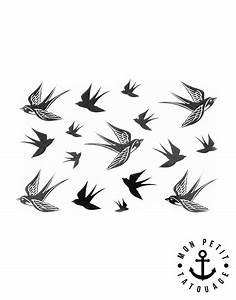 Dessin D Hirondelle Pour Tatouage : tatouage hirondelles oiseaux mon petit tatouage temporaire ~ Melissatoandfro.com Idées de Décoration