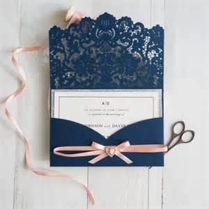 blue wedding invitations navy blue and wedding colors inspired laser cut wedding invitations swws028 stylishwedd