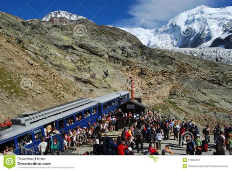 tramway du mont blanc nid d aigle editorial photography image 11684242