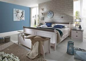 Beistelltisch Weiß Landhaus : landhaus schlafzimmer eva massivholz wei grau von jumek ~ Watch28wear.com Haus und Dekorationen