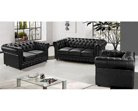 Black Leather Sofa Set Price by Modern Half Leather Sofa Set 44l5953