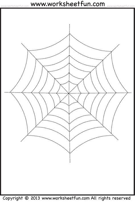 spider web tracing  coloring  halloween worksheets