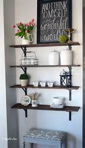 empty kitchen wall ideas hometalk diy stained open shelving for the kitchen