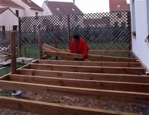construire une terrasse en bois pratiquefr With construire sa terrasse bois