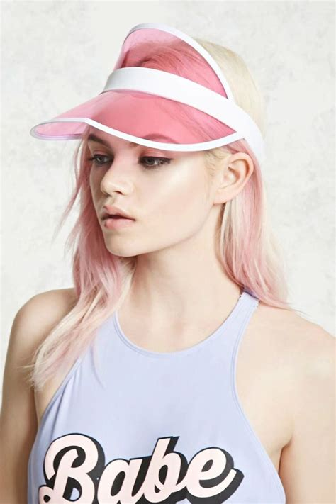 translucent visor outfits  hats fashion hat hairstyles
