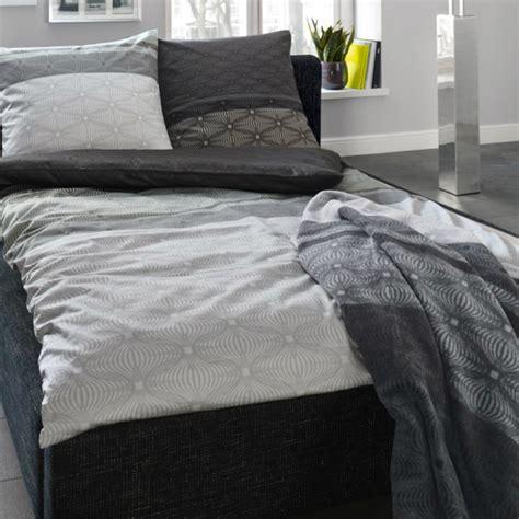 bettwäsche schwarz grau bugatti mako satin bettw 228 sche schwarz grau 2tlg 155x220