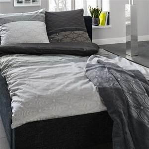 Bettwäsche Grau 155x220 : bugatti mako satin bettw sche schwarz grau cm ebay ~ Frokenaadalensverden.com Haus und Dekorationen