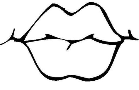lips coloring pages clipart