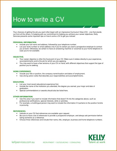 9 how to make a simple cv for lease template