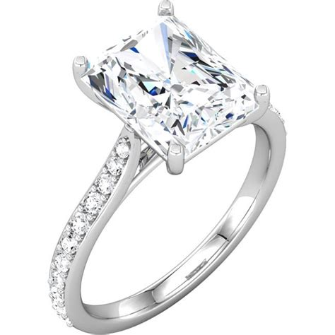 radiant cut diamond engagement ring setting