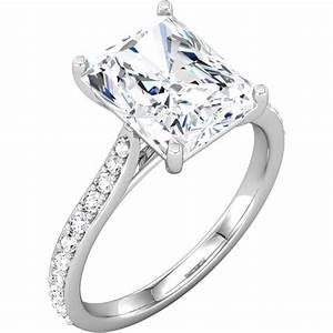 radiant cut diamond engagement ring setting With radiant cut diamond wedding rings