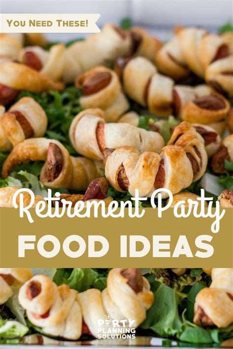 Check out our retirement party selection for the very best in unique or custom, handmade pieces from our party supplies shops. Impress Guests with Yummy Retirement Party Food Ideas in 2020 | Food, Retirement parties, Dinner
