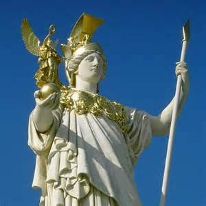 Goddess Athena with Owl Statue