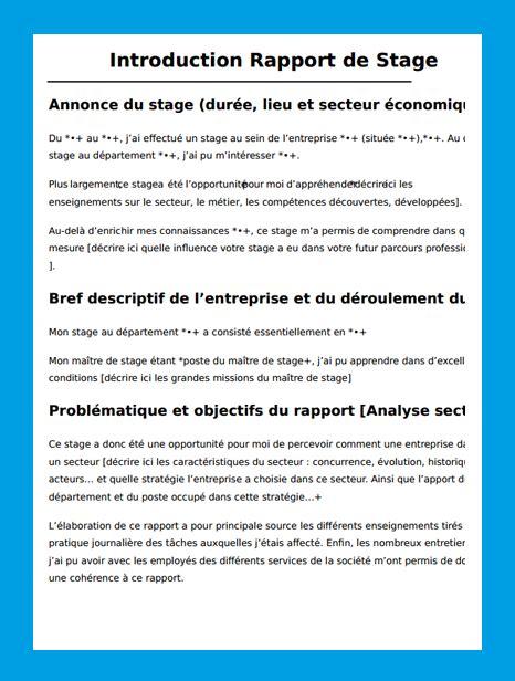 rapport de stage secretaire medicale introduction rapport de stage exemple introduction