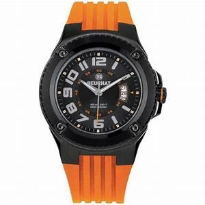 Montre De Sport Homme : montre beuchat beu0059 6 montre bracelet orange sport ~ Melissatoandfro.com Idées de Décoration