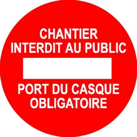 malette de bureau panneau chantier interdit au port du casque