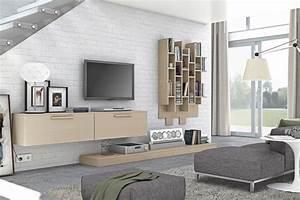 Meuble Mural Salon : meuble mural salon offrant beaucoup d espace de rangement ~ Teatrodelosmanantiales.com Idées de Décoration