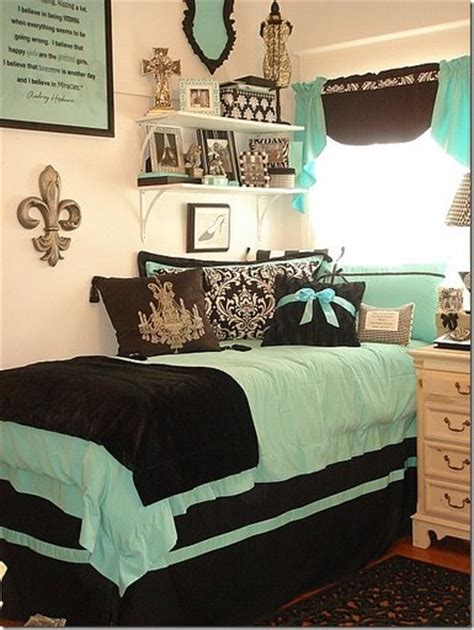 fantastic mint green and brown college room with