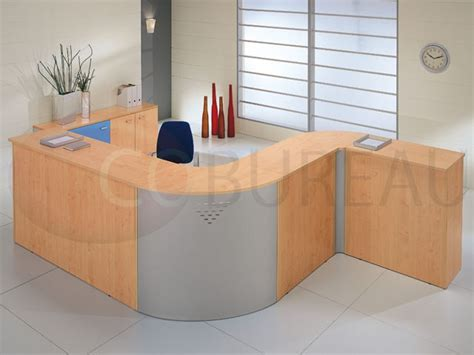 bureau comptoir accueil comptoir d 39 accueil droite kamos l 165 cm