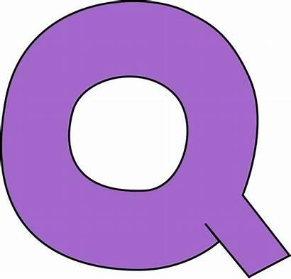 Letter Clip Purple Capital Alphabet Letters Blank