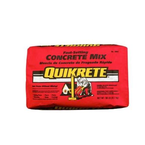 depot quikrete quikrete 50 lb fast setting concrete mix 100450 the Home