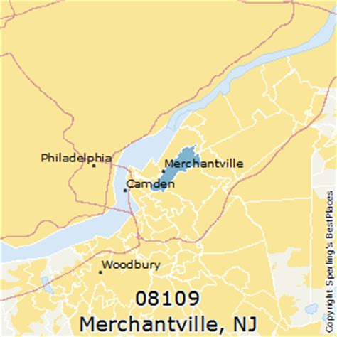 places    merchantville zip   jersey