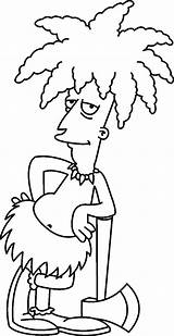 Simpsons Coloring Bob Sideshow Simpson Dibujos Printable Desenhos Homer Characters Secundario Actor Dos Bart Marge Malvorlagen Lisa Pintar Zeichnen Dibujar sketch template