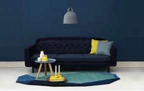 Navy Blue Interior Design Idea Minimalist Blue Interior Design Ideas Navy Blue Wall Dark Blue Sofa