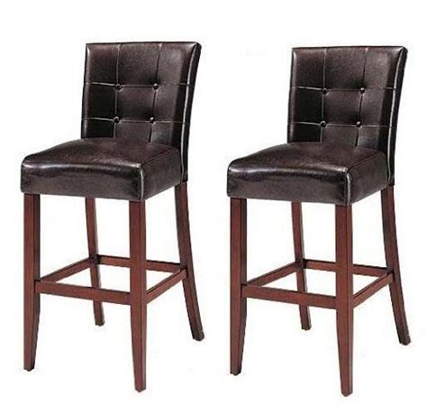 set of 2 counter height 24 parsons chairs with brown