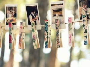 Fil Pour Accrocher Des Photos : 20 id es d co pour votre salle de mariage elle d coration ~ Zukunftsfamilie.com Idées de Décoration