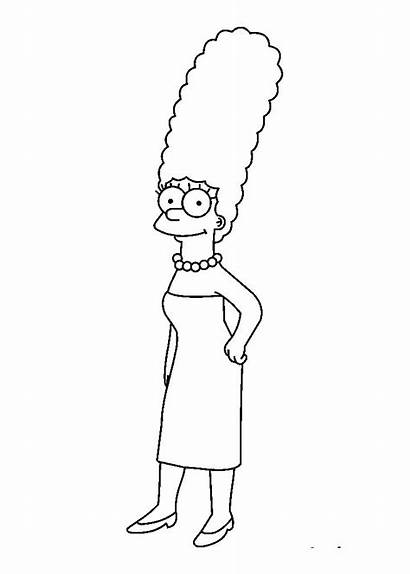 Simpsons Coloring Simpson Marge Colorare Disegnare Drawings