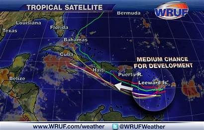 Weather Caribbean Satellite Tropical Forecast Wave 97l