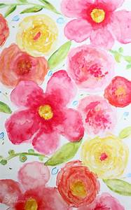 Beginner Floral Watercolor Painting - FYNES DESIGNS ...