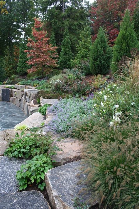 rustic landscaping hillside mountain front yards astonishing rock landscaping ideas for front yard for landscape