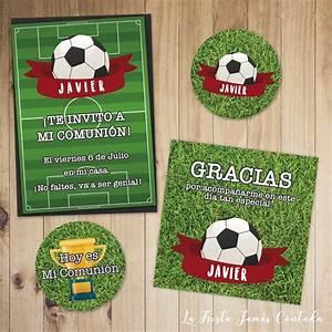 Kit de invitación de fútbol para comunión Tienda La Fiesta Jamás Contada