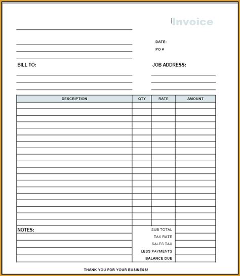 printable invoice templates invoice template pdf free free to do list