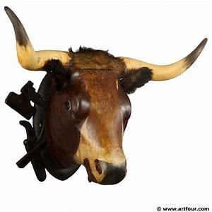 wooden carved bull head from a butchery ca 1880