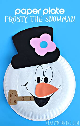 paper plate frosty  snowman pictures