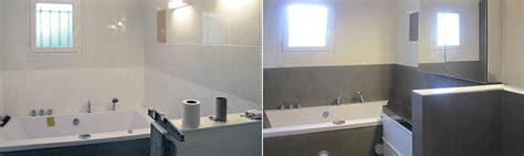 salle de bain avant apres b 233 ton cir 233 design 201 tanche pour salle de bains et r 233 novation sur carrelage pose sur