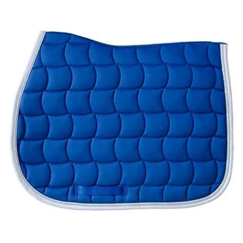 tapis de selle chantilly harcour bleu roy galon blanc