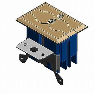 carlon b121bfbb adjustable floor box kit with brass cover With carlon floor outlet