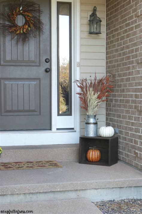 Ideas For Fall Front Porch by Fall Porch Decor Ideas A Cup Of Sass