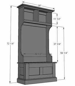 Wood Free Hall Tree Bench Plans PDF Plans