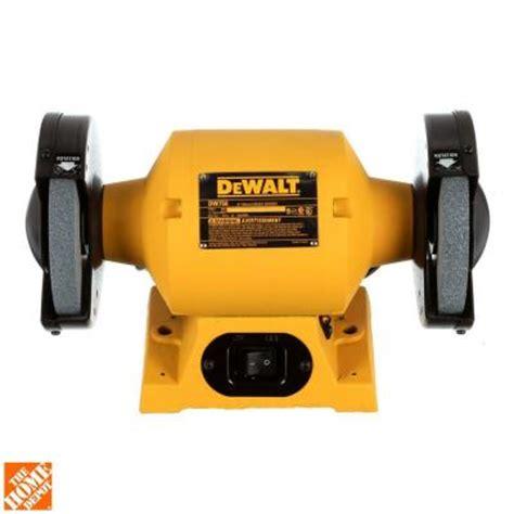 dewalt bench grinder dewalt 6 in 150 mm bench grinder dw756 the home depot