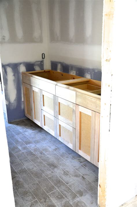Unfinished Bath Wall Cabinets by Master And Shared Bathroom Custom Cabinets Flip 1