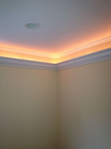 crown molding  inches  hides  rope light www