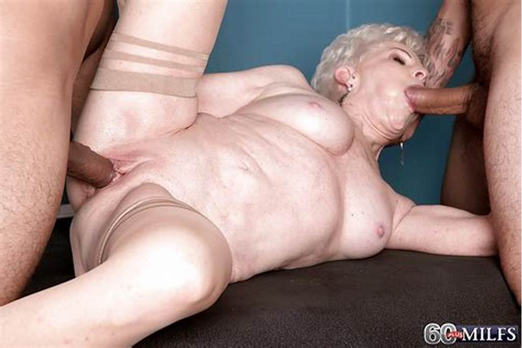 #Short #Haired #Blond #Granny #Jewel #Taking #Cum #On #Face #After
