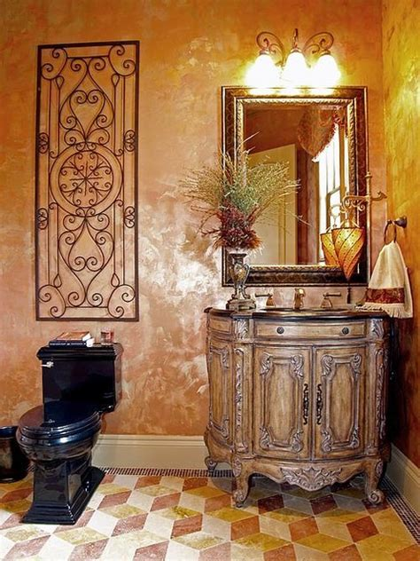Tuscan Style Bathroom Decor by Cordillera Ranch Tuscan Hill Country Home