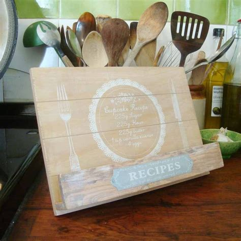 wooden recipe book holder diy recipe book pinterest